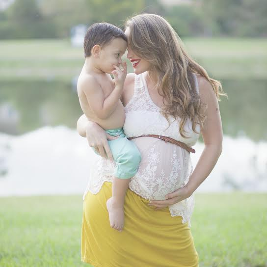 Pregnant woman with child, West Palm Beach Florida Midwife services